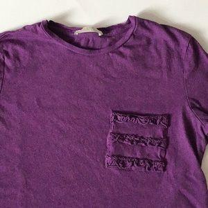 Zara Ruffle Pocket T-Shirt
